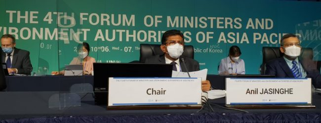 Dr. Anil Jasinghe appointed Chair of 4th AP Forum of the UNEP