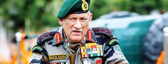 India must convince neighbors against debt trap of china: Gen Bipin Rawat