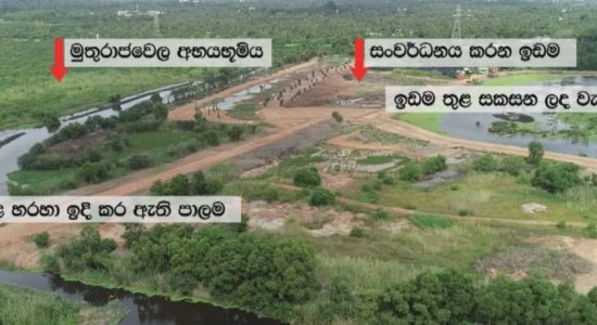 Report on Muthurajawela wetland construction today