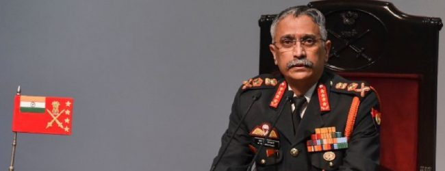 Indian Army Chief in Sri Lanka for five-day goodwill tour