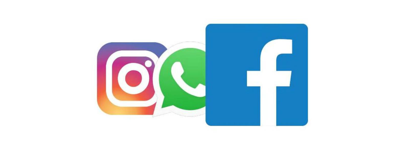 Facebook, WhatsApp යළි යථා තත්ත්වයට