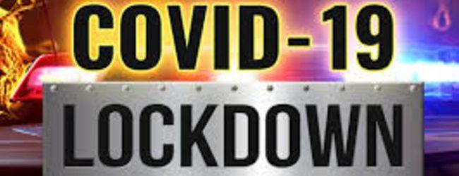 ප්රදේශ කිහිපයක් Lockdown…