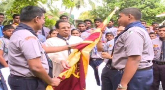 இலங்கை சாரணர்கள் குழுவிற்கு உத்தியோகப்பூர்வமாக தேசியக்கொடி கையளிப்பு