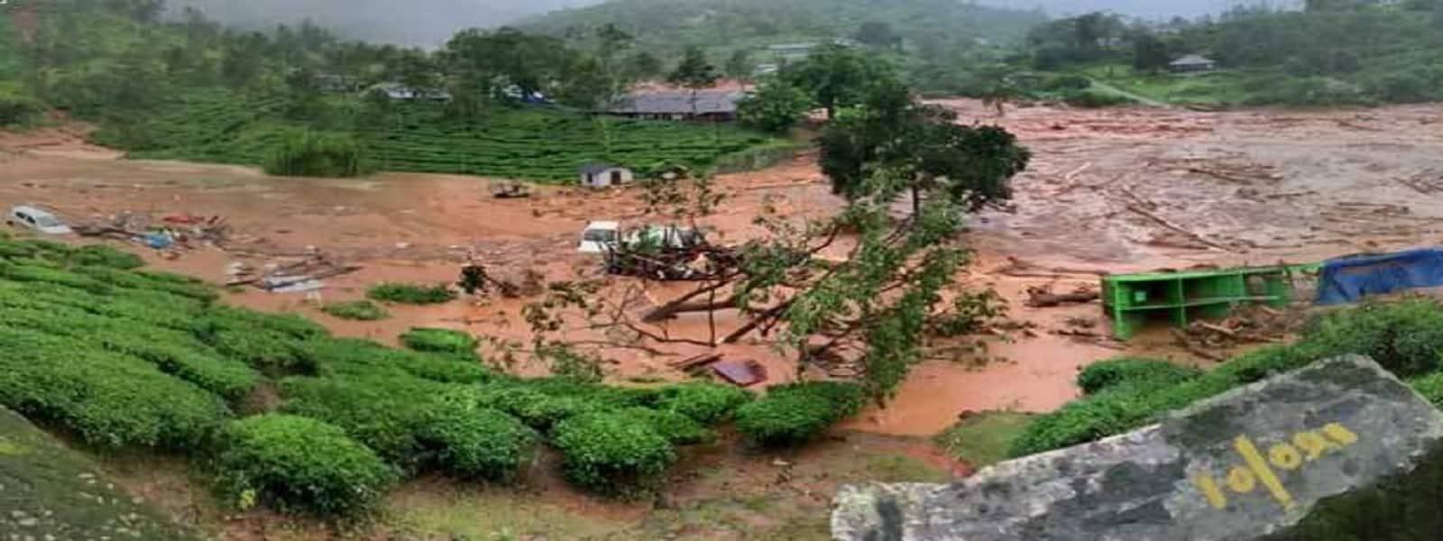 கேரளாவில் பலத்த மழை: நிலச்சரிவில் 50-க்கும் மேற்பட்டோர் சிக்கியுள்ளனர்