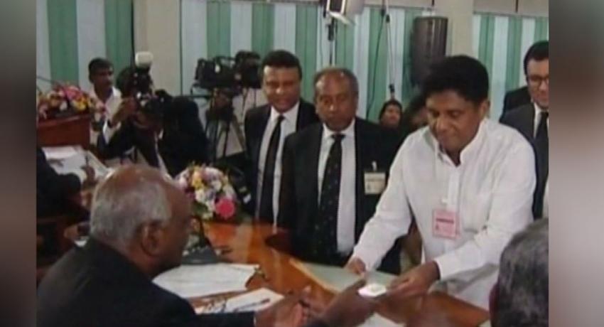 ஜனாதிபதித் தேர்தல்: வேட்புமனுத் தாக்கல்