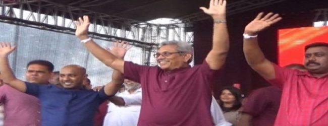 பொதுஜன பெரமுனவின் தேர்தல் பரப்புரை ஆரம்பம்; சுதந்திரக் கட்சியின் துமிந்தவும் பங்கேற்பு