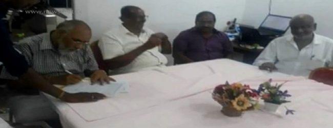 ஜனாதிபதி தேர்தலுக்கான 13 கோரிக்கைகள் அடங்கிய பொது ஆவணத்தில் 5 தமிழ் கட்சிகள் கைச்சாத்து