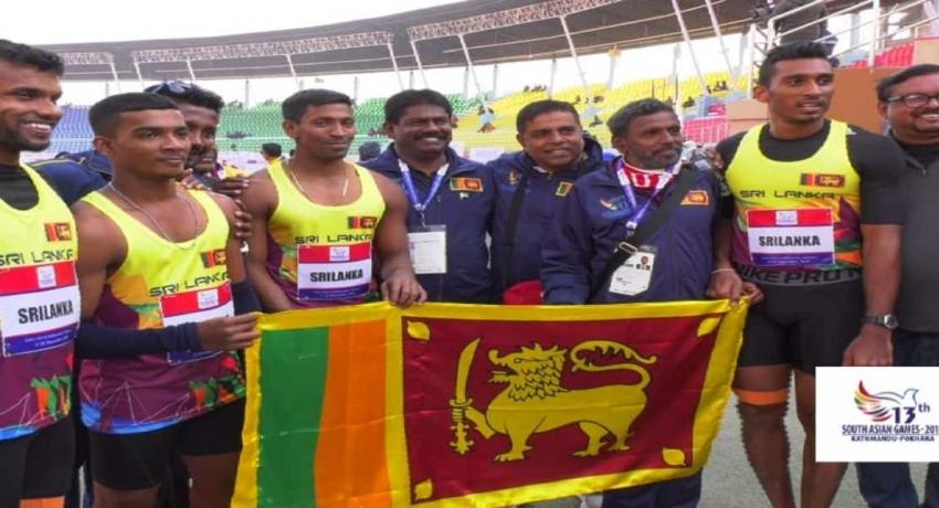 4×100 மீட்டர் அஞ்சலோட்டப் போட்டியில் தெற்காசிய சாதனையுடன் தங்கம் வென்றது இலங்கை