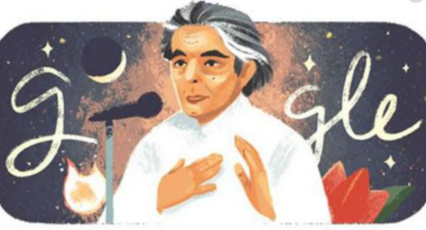 கவிஞர் கைஃபி ஆஸ்மிக்கு மரியாதை செலுத்தியது கூகுள்