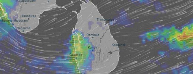 நாட்டின் பல பகுதிகளில் 150 மி.மீ வரையான மழைவீழ்ச்சி