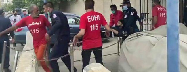 பாகிஸ்தான் பங்கு பரிவர்த்தனை நிலையம் மீது தாக்குதல்; இருவர் பலி