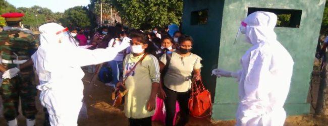 இயக்கச்சியில்தனிமைப்படுத்தப்பட்டிருந்த 166 பேர் வீடு திரும்பினர்