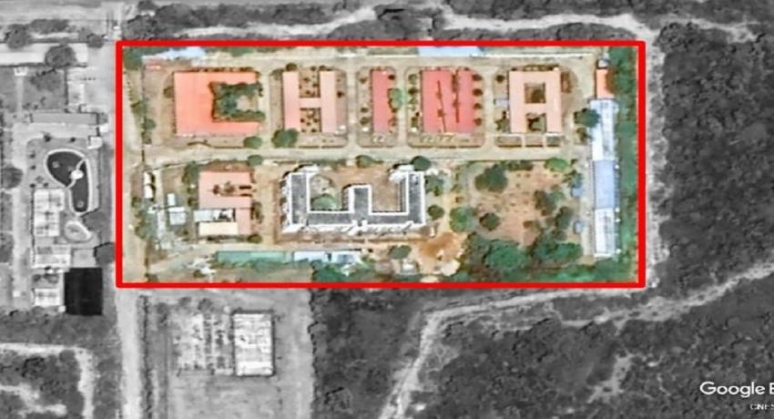 """ஹம்பாந்தோட்டை விமான நிலையத்திற்கு அண்மையில்  """"CHINA SW"""" வடிவில் நிமாணிக்கப்பட்டுள்ள கட்டடத்தின் பின்புலம் என்ன?"""