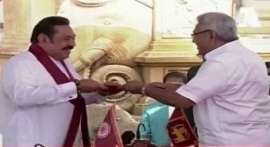 மஹிந்த ராஜபக்ஸ புதிய பிரதமராக பதவியேற்பு