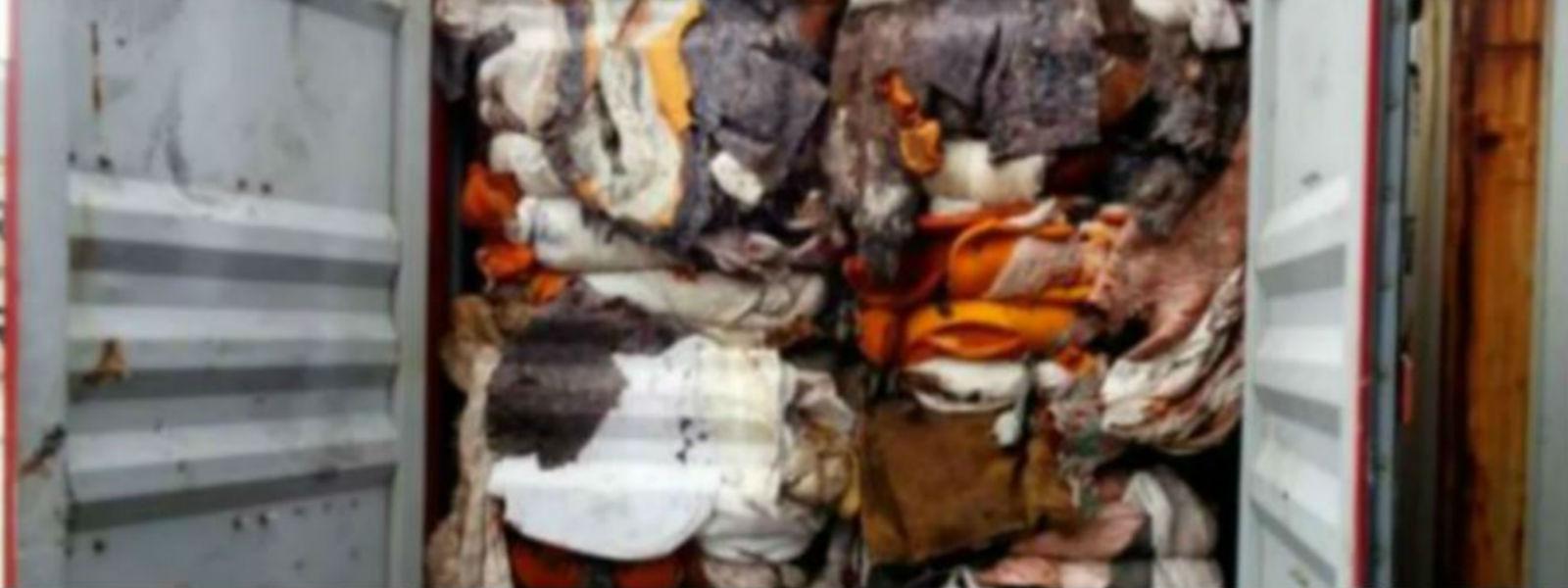 கழிவுகள் அடங்கிய கொள்கலன்களை இங்கிலாந்துக்கு திருப்பியனுப்ப நடவடிக்கை