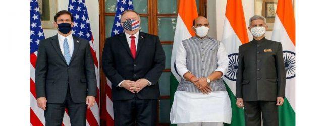 இந்தியா – அமெரிக்கா இடையில் அடிப்படை பரிமாற்றம் மற்றும் ஒத்துழைப்பு ஒப்பந்தம் கைச்சாத்து
