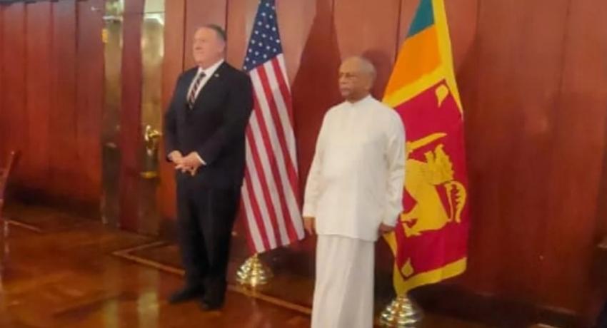 அமெரிக்க இராஜாங்க செயலாளர் வௌிவிவகார அமைச்சருடன் பேச்சுவார்த்தை