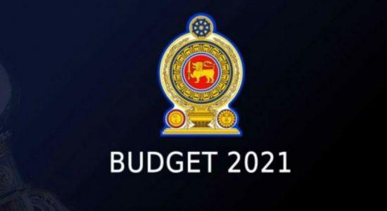 2021 ஆம் ஆண்டிற்கான வரவு செலவுத் திட்டம் பாராளுமன்றில் நிறைவேற்றம்