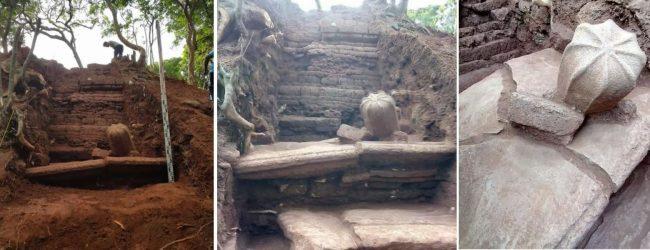 குருந்தூர் மலையில் லிங்கத்தை ஒத்த சின்னங்கள் மீட்பு