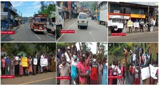 1000 ரூபா சம்பளத்தை வலியுறுத்தி தோட்டத் தொழிலாளர்கள் ஒரு நாள் அடையாள வேலை நிறுத்தம்
