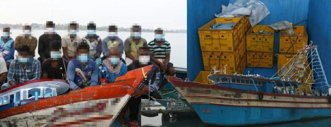இலங்கை கடல் எல்லைக்குள் அத்துமீறி பிரவேசித்த இந்திய மீனவர்கள் 54 பேர் கைது