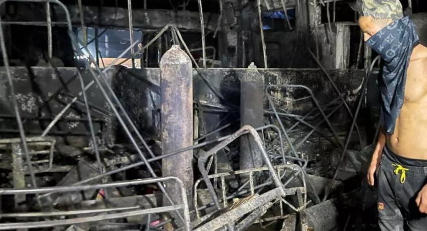 ஈராக் கொரோனா வைத்தியசாலையில் தீ; 82 பேர் உயிரிழப்பு