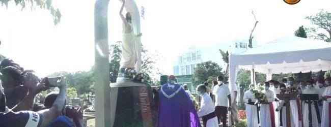 ஏப்ரல் 21 தாக்குதல்; பொரளையில் நிர்மாணிக்கப்பட்ட நினைவுத்தூபிக்கு மலரஞ்சலி