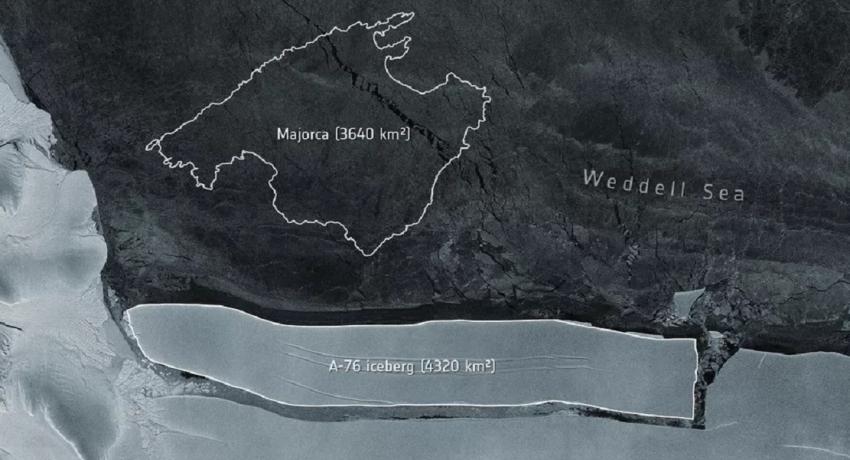 அண்டார்டிகாவிலிருந்து உலகின் மிகப்பெரிய பனிப்பாறை பிரிந்தது