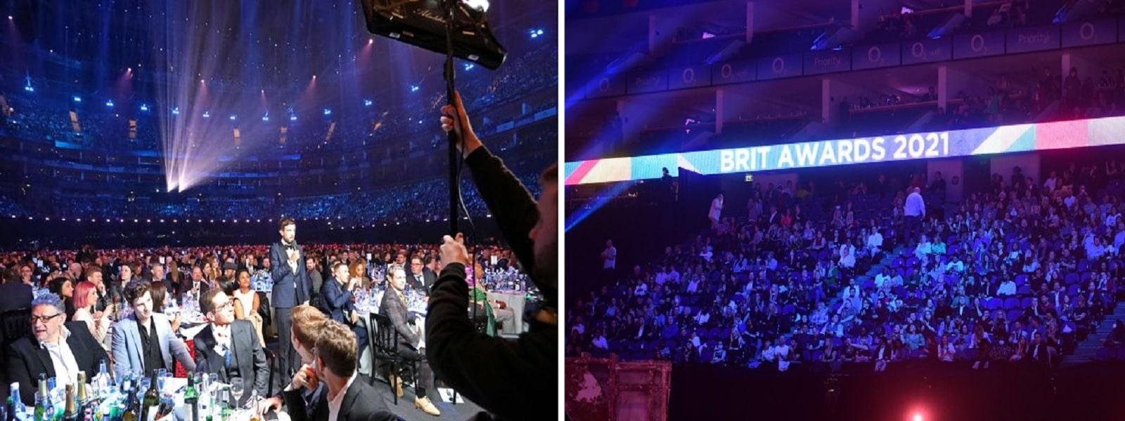 மாஸ்க், சமூக இடைவெளியின்றி நடைபெற்ற Brit விருது விழா