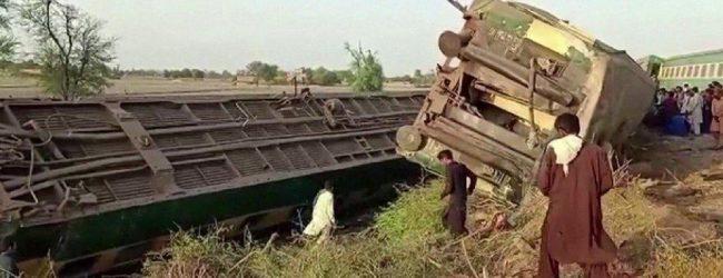 பாகிஸ்தான் ரயில் விபத்தில் 36 பேர் உயிரிழப்பு