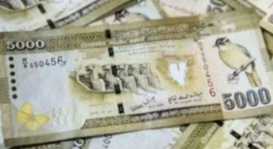 X-Press Pearl கப்பலினால் ஏற்பட்ட பாதிப்பு காரணமாக கடற்றொழிலில் ஈடுபட முடியாதுள்ளவர்களுக்கு 5000 ரூபா கொடுப்பனவு