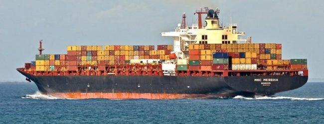 இலங்கை கடல் எல்லையைக் கடந்தது MSC Messina
