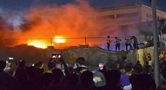 ஈராக் மருத்துவமனையில் தீ விபத்து: 60 பேர் பலி