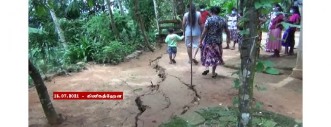 மண்சரிவு அபாயம் காரணமாக கினிகத்ஹேனயில் 13 குடும்பங்கள் வௌியேற்றம்