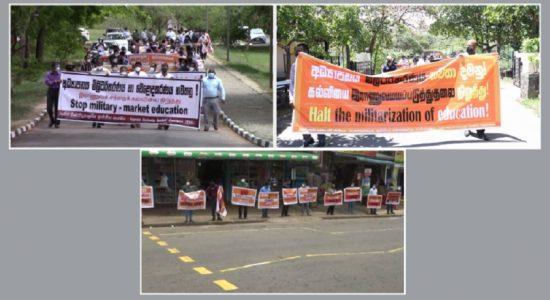 கொத்தலாவல சட்டமூலத்திற்கு எதிர்ப்பு: பல்கலைக்கழக விரிவுரையாளர்கள் ஆர்ப்பாட்டம்