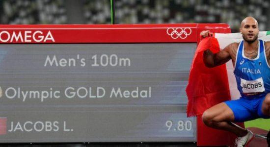 ஒலிம்பிக் 100 மீட்டர் ஓட்டப் போட்டியில்Lamont Marcell Jacobs தங்கம் வென்றார்