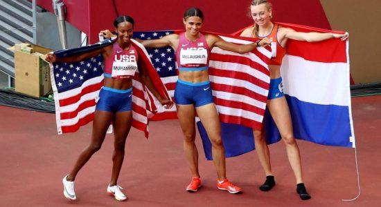 டோக்கியோ ஒலிம்பிக்: மகளிருக்கான 400 மீட்டர் தடைதாண்டல் ஓட்டத்தில் தங்கம், வௌ்ளி பதக்கங்களை சுவீகரித்த அமெரிக்கா