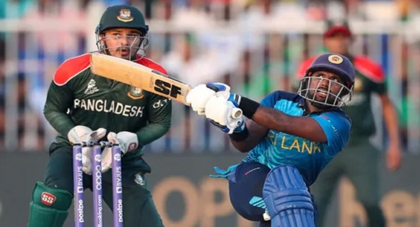 T20 உலகக்கிண்ணம்: பங்களாதேஷூக்கு எதிரான போட்டியில் இலங்கை 5 விக்கட்களால் வெற்றி